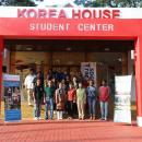 In front of the student center, group picture